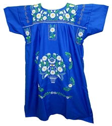 (4XL) Mexican Embroidered Pueblo Dress - Unique 254