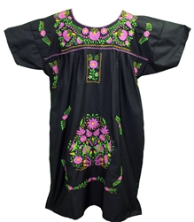 (4XL) Mexican Embroidered Pueblo Dress - Unique 255
