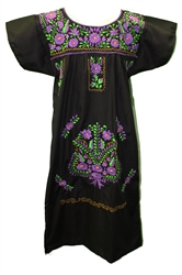 (M) Mexican Embroidered Pueblo Dress - Unique #52