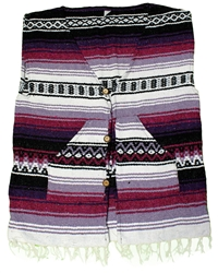 X-Large Poncho Vest - Multi 155