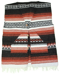 Shop for X-Large Poncho Vest - Multi #1