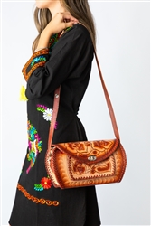Mexican Hand Tooled Leather Purse - Cincelado 7