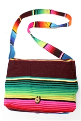 Classic Serape Messenger Purse Authentic Handmade