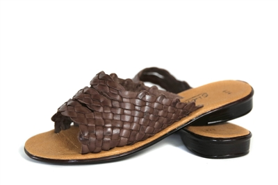 Women's Slip-on Huarache Sandals - Brown