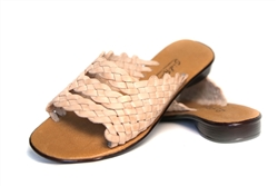 Women's Slip-on Huarache Sandals - Natural