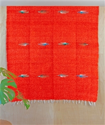 Tribal Solid Blanket - Orange