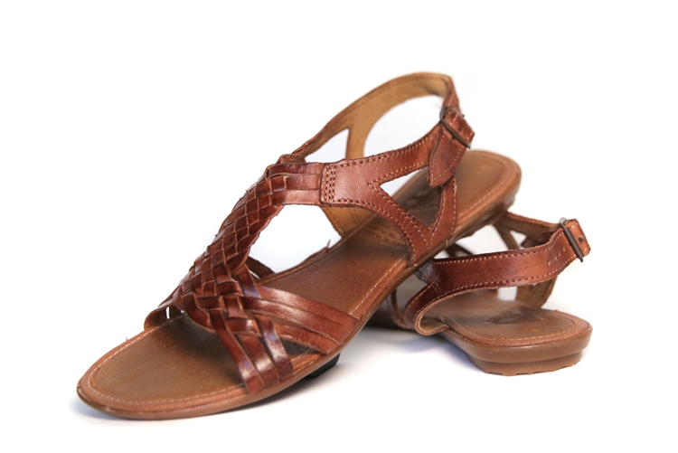 Model Vintage Leather Woven Womens Huarache SANDALS Mexican Boho Shoes Flats