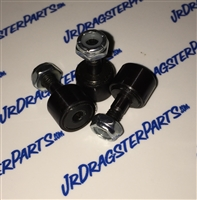 Jr Dragster Cam Followers for Shockwave and Terminator Secondary Clutch. These are our own JDP custom black secondar rollers designed for the least amount of friction possible. Make your secondary shift smoothly more consistent runs