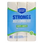 Berkley Jensen Premium Quilted Kitchen Paper Roll Towels Full Size Sheets 12 x 81ct