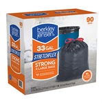 Berkley & Jensen Black Drawstring 33 Gallon Bags 90ct