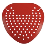 Boardwalk Model BWK 1001 Urinal Screens Red Cherry Scent - 12 Count.