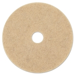 "17"" In-House Brand Natural Tan Hog's Hair Burnishing Burnish Floor Pads 5ct"