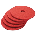 "17"" In-House Brand Red Buffing Buff Floor Pads 5ct."