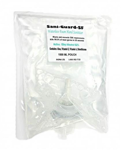 Inopak Model 5068 Fl1000 Sani Guard Fs Foam Hand Sanitizer
