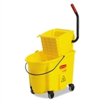 RCP7580-88YW Rubbermaid Wave Brake 35 Quart Bucket Wringer Combo