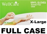 Powder Free Disposable XL Vinyl Gloves 10 x 100ct X-LARGE