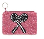 Beaded Tennis Coin Pouch
