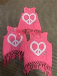 Heart Peace Name Fringe Tank