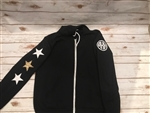 Star Sleeve Monogrammed Zip Up