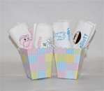 Peas in a pod burp cloths set