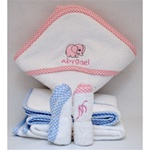 Gingham Hooded Towel