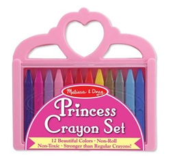 Princess Crayons with Doodle Pad