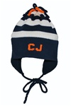 Knitted Earflap Hat- Stripe
