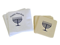 Happy Hanukah Napkins & Coasters