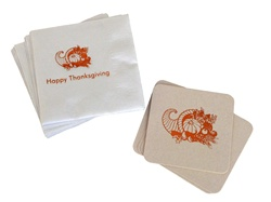 Happy Thanksgiving Napkins & Coasters