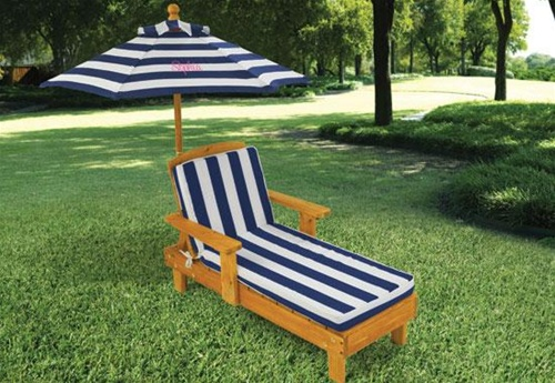 Chaise Lounge Chair With Umbrella Larger Photo