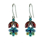 Firefly Botanical Flower Earrings in Multi-color