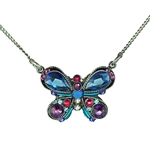 Firefly Fancy Butterfly Necklace in Sapphire