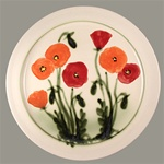 Large Poppy Flower Platter