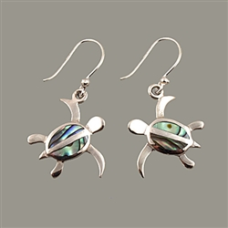 Abalone Turtle Earrings