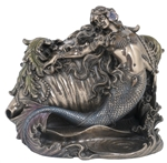 Mermaid & Conch Shell Trinket Box