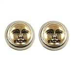 Tabra Bronze Moonface Earrings