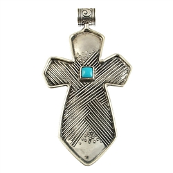 Tabra Embossed Cross Pendant