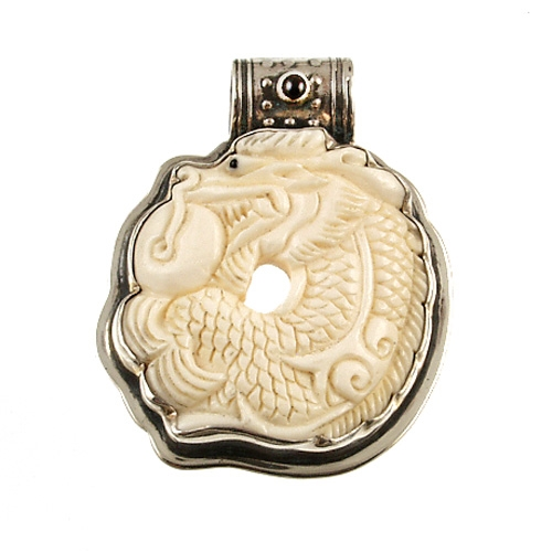 Carved carved bone dragon pendant by tabra designs tabra carved bone dragon pendant aloadofball Gallery