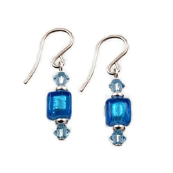 Aqua Glass Earrings SS