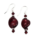 Red Glass Earrings SS