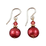 Persimmon Glass Earrings GF