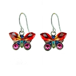 Firefly Petite Butterfly Multi-color Earrings