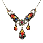 Firefly Flame Crystal Necklace