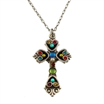 Firefly Cross with Turquoise Center