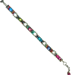 Firefly Mosaic Long Crystal Bracelet- Multi Color
