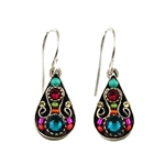 Firefly Arabesque Small Drop Earrings in Multi-color