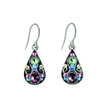 Firefly Arabesque Small Drop Earrings in Amethyst