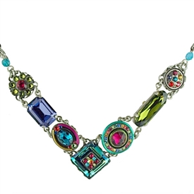 Firefly La Dolce Vita Crystal V Necklace