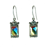 Firefly Rectangle Crystal Earring in Aurora Borealis