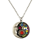 Firefly Moon & Stars Necklace in Multi-color